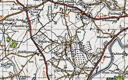 Old map of Wilson in 1947