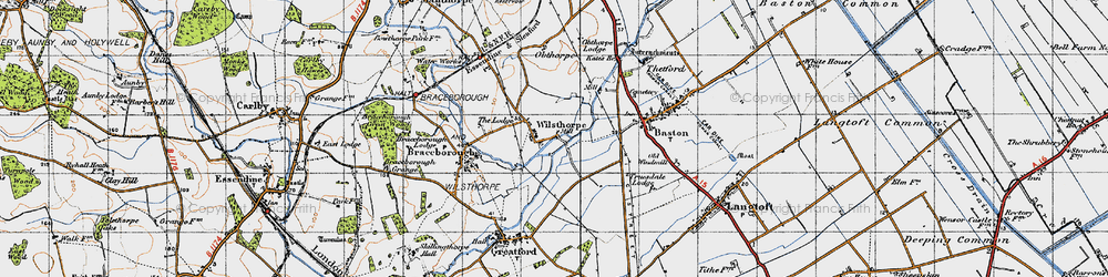 Old map of Wilsthorpe in 1946