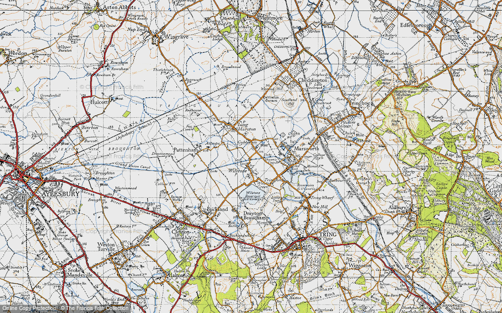 Old Map of Wilstone, 1946 in 1946