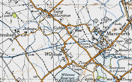 Old map of Wilstone in 1946