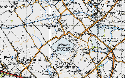 Old map of Wilstone Green in 1946