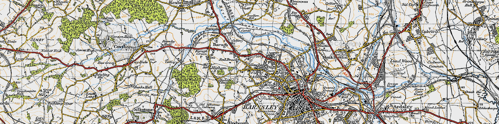 Old map of Wilthorpe in 1947