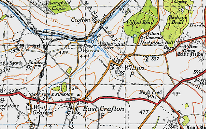 Old map of Wilton in 1940