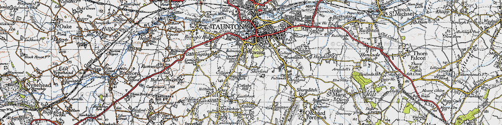 Old map of Wilton in 1946