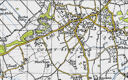 Old map of Wiltown in 1945