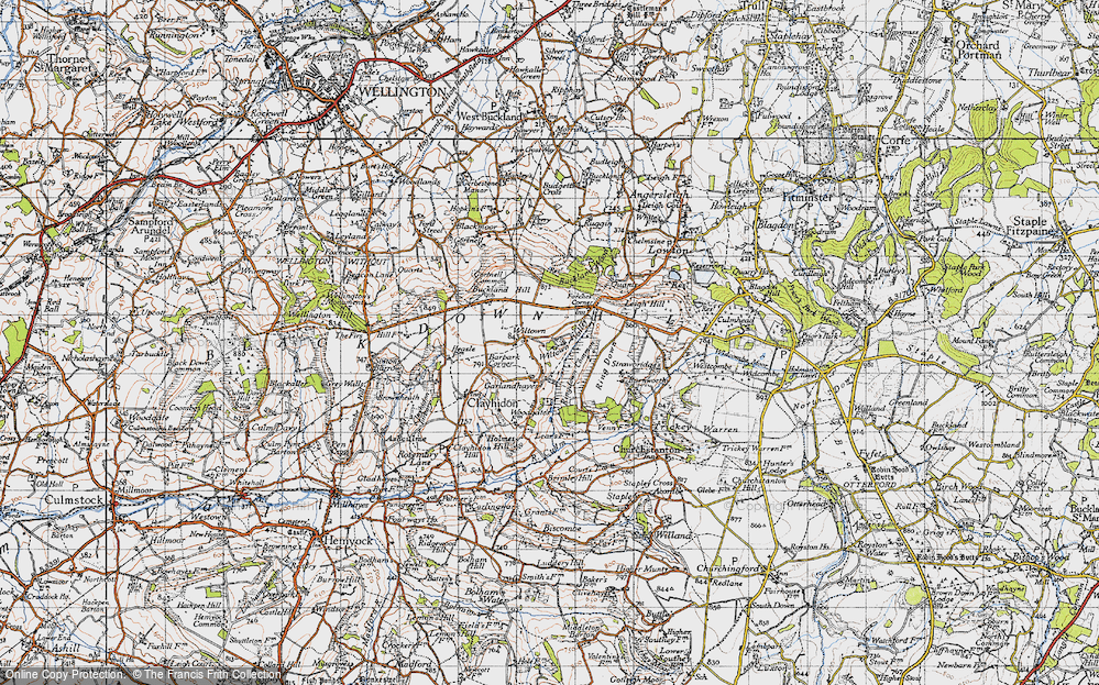 Old Map of Wiltown, 1946 in 1946