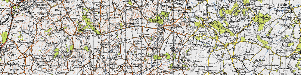 Old map of Wiltown in 1946