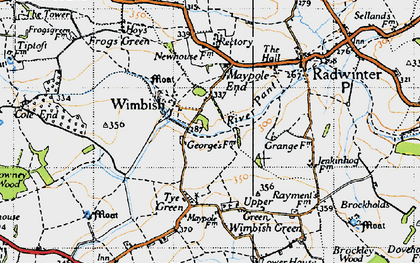 Old map of Wimbish Hall in 1946