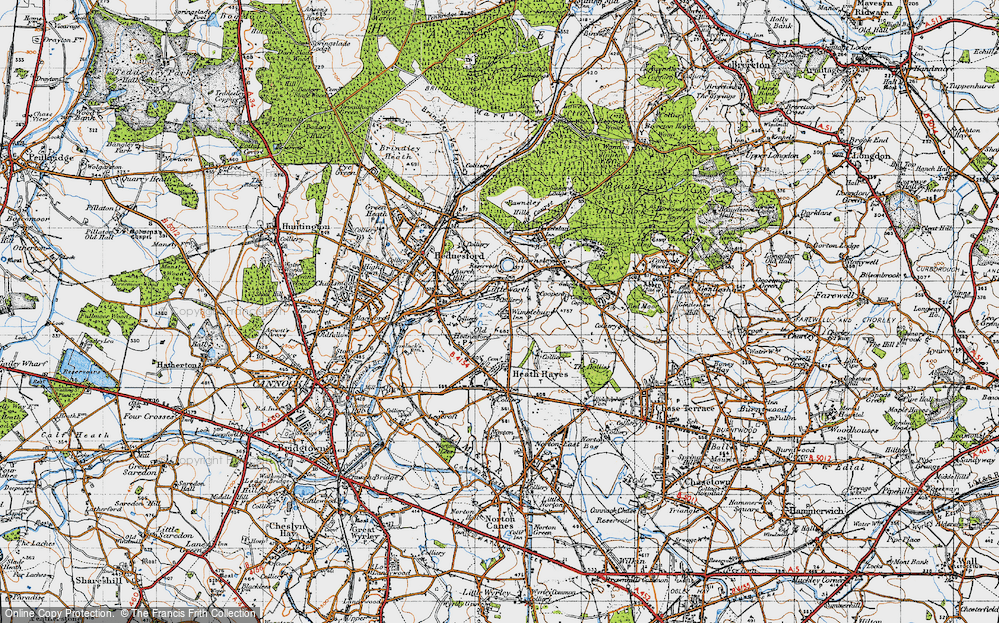 Old Map of Wimblebury, 1946 in 1946