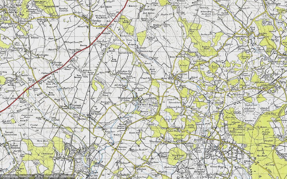 Wimborne St Giles, 1940