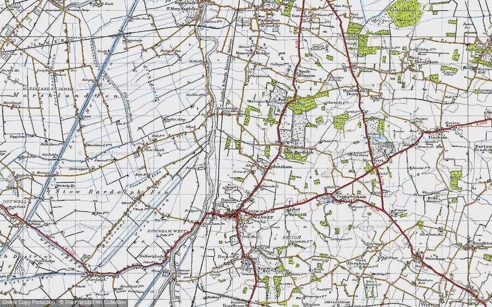 Old Map of Wimbotsham, 1946 in 1946