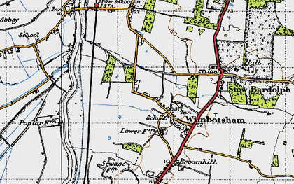 Old map of Wimbotsham in 1946