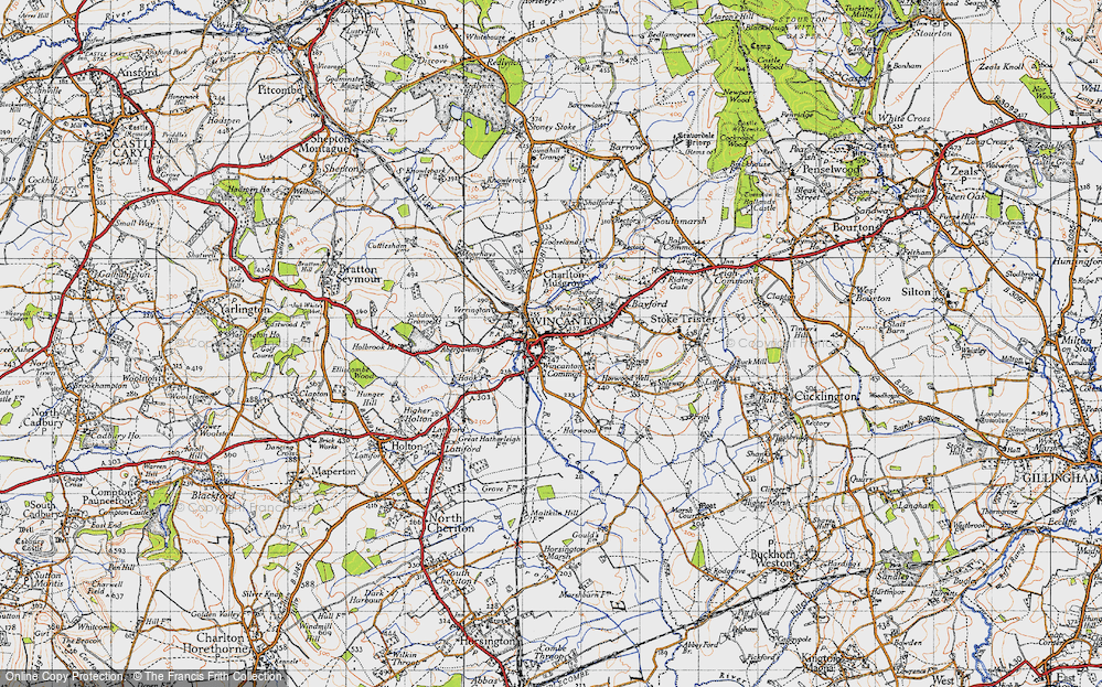 Old Map of Wincanton, 1945 in 1945