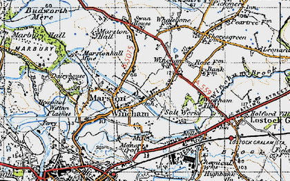 Old map of Wincham in 1947