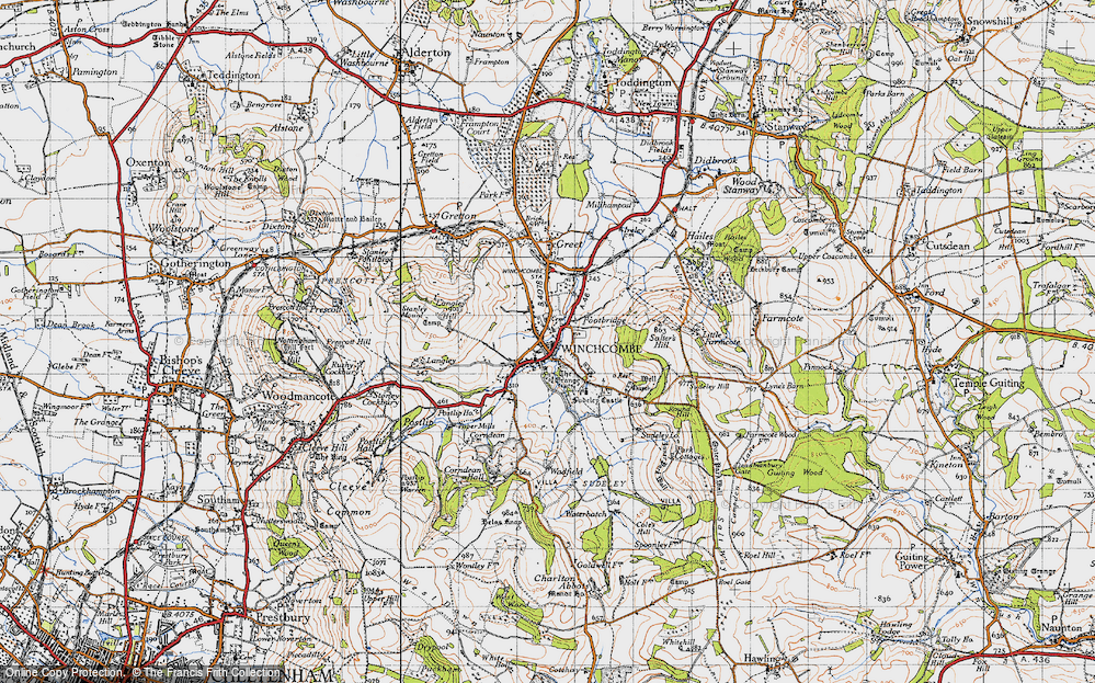 Old Map of Winchcombe, 1946 in 1946