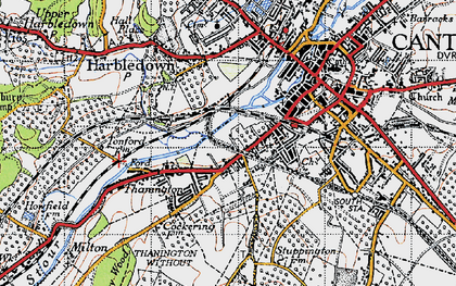 Old map of Wincheap in 1947