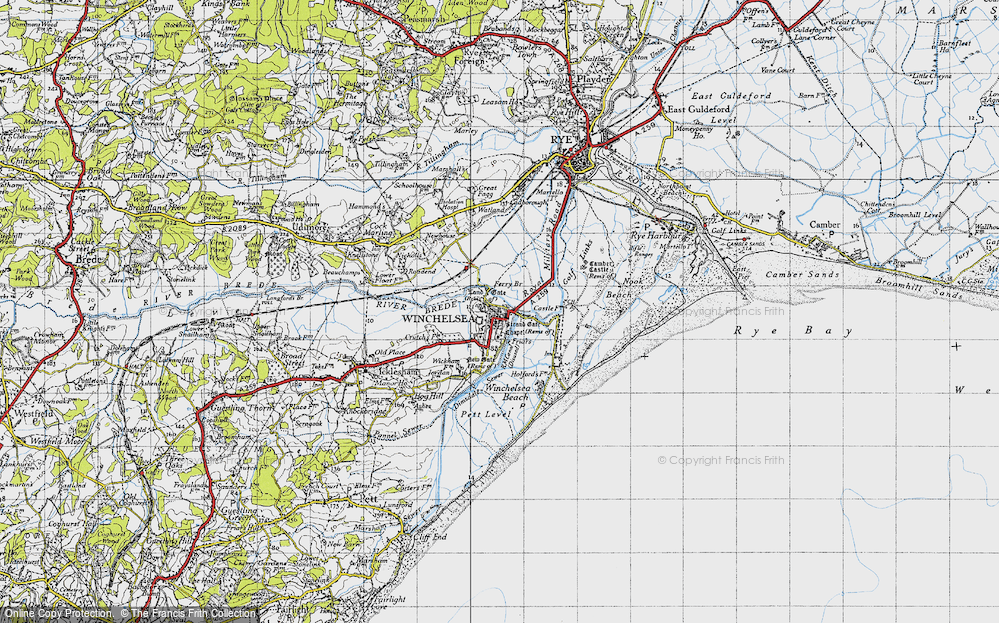 Old Map of Winchelsea, 1940 in 1940