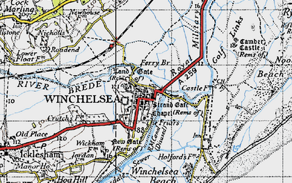 Old map of Wickham Manor in 1940