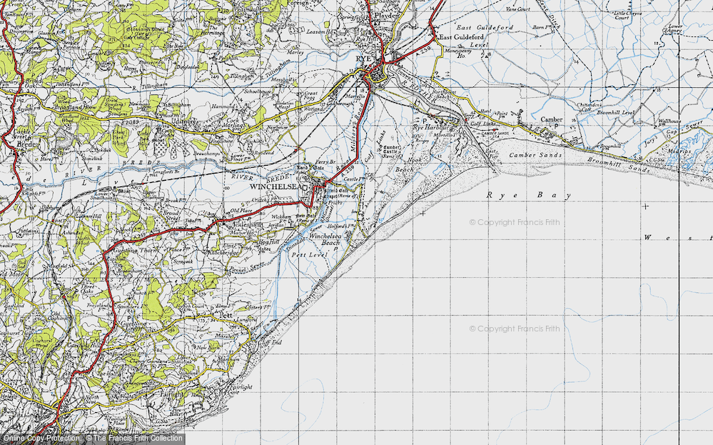 Old Map of Winchelsea Beach, 1940 in 1940