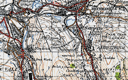 Old map of Winchestown in 1947
