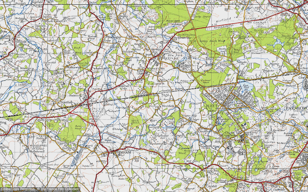 Old Map of Winchfield, 1940 in 1940