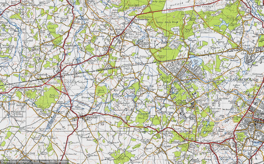 Old Map of Winchfield Hurst, 1940 in 1940