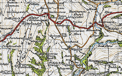 Old map of Wincle in 1947