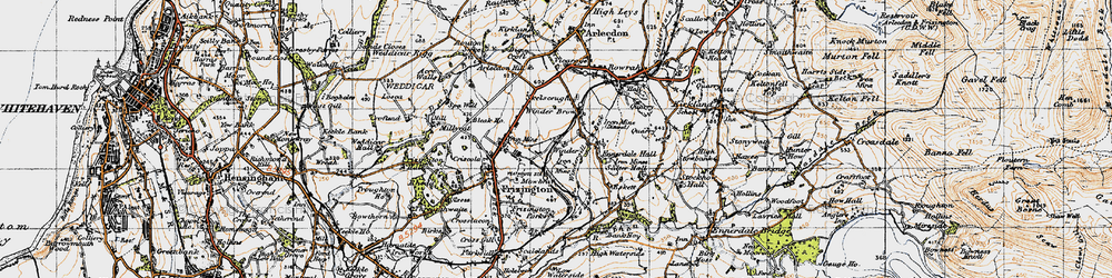 Old map of Winder Brow in 1947