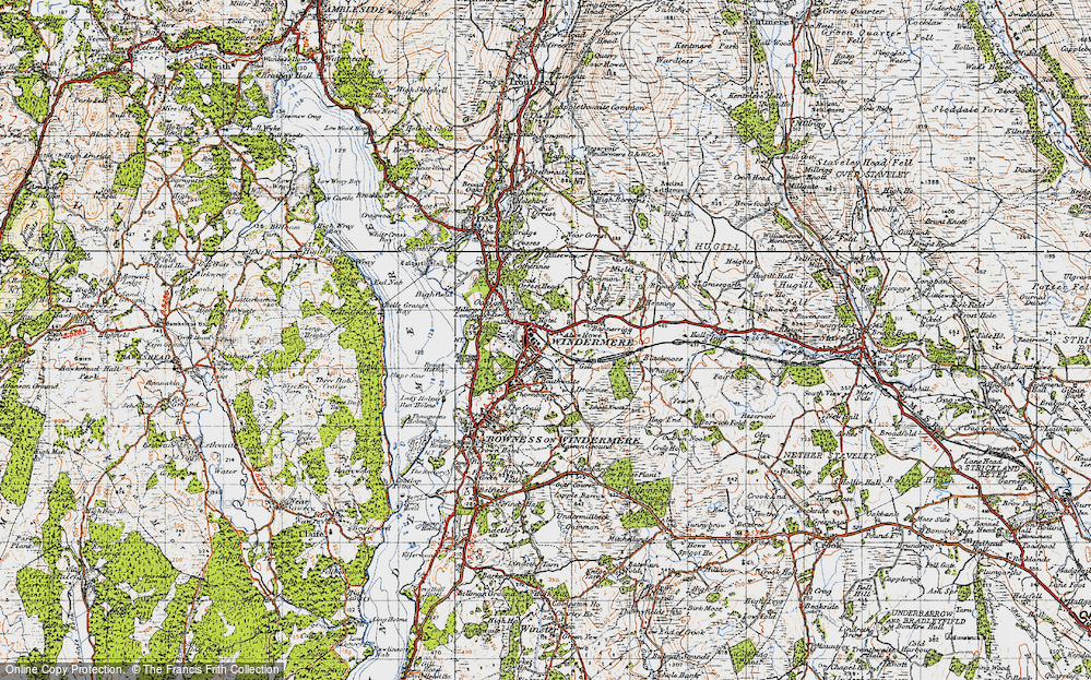 Old Map of Windermere, 1947 in 1947