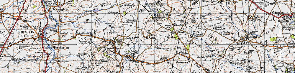 Old map of Winderton in 1946