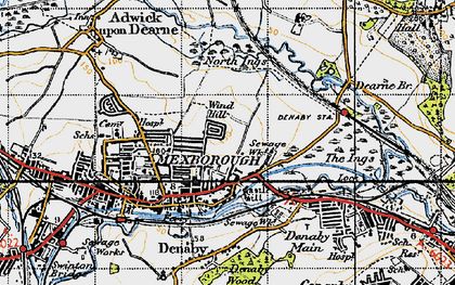 Old map of Windhill in 1947