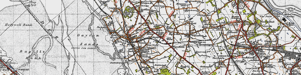 Old map of Windle Hill in 1947