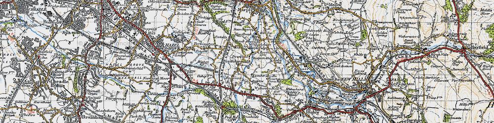 Old map of Windlehurst in 1947