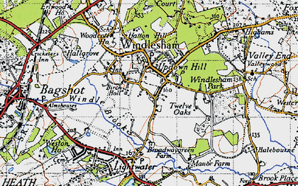 Old map of Windlesham Park in 1940