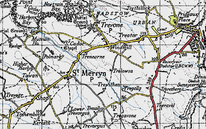 Old map of Windmill in 1946