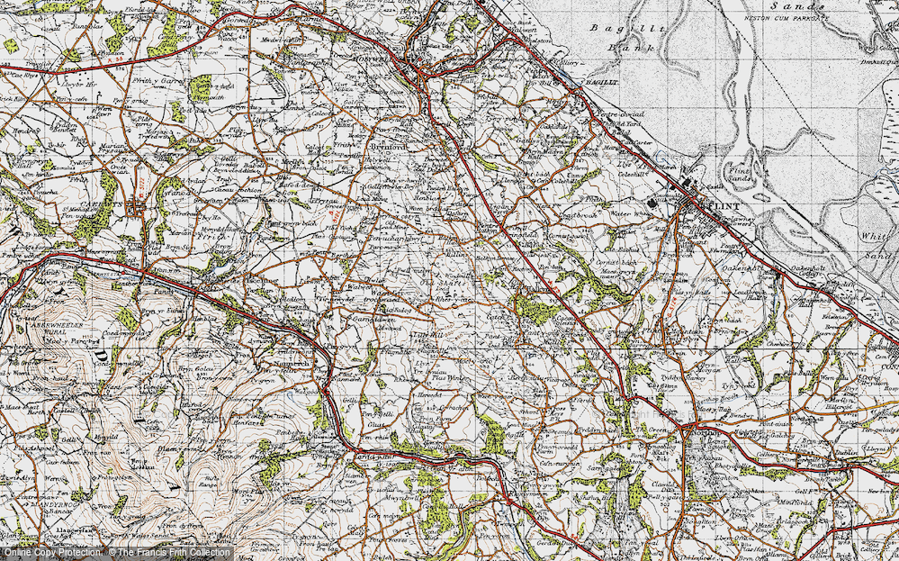 Old Map of Windmill, 1947 in 1947