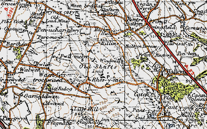 Old map of Windmill in 1947