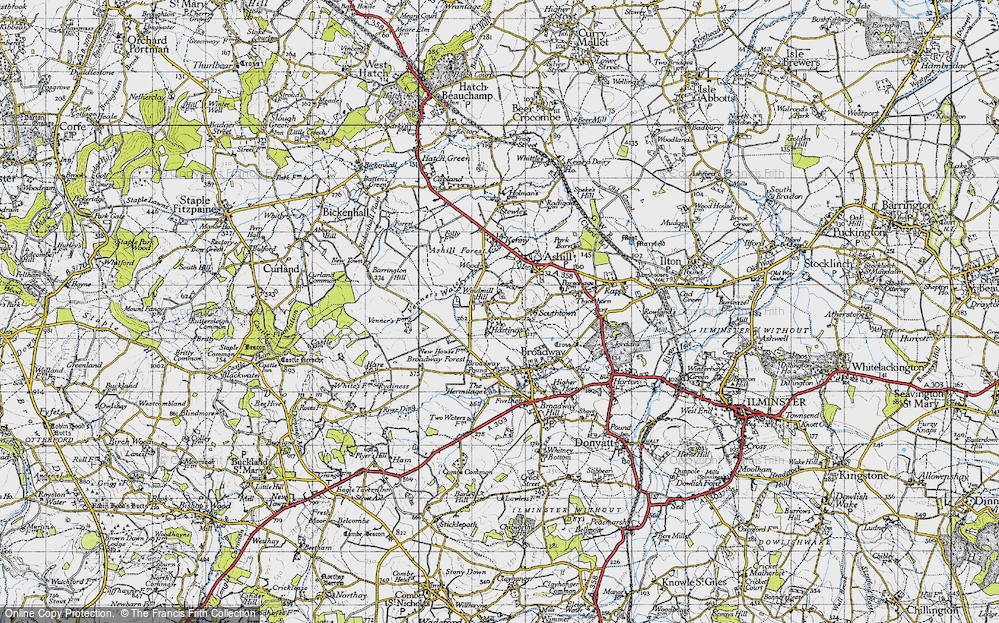 Old Map of Windmill Hill, 1945 in 1945