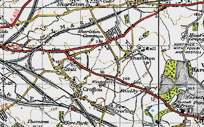 Old map of Windmill Hill in 1947