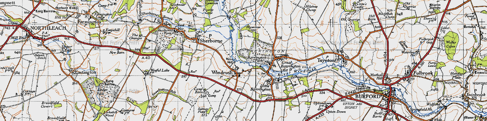 Old map of Windrush Camp in 1946