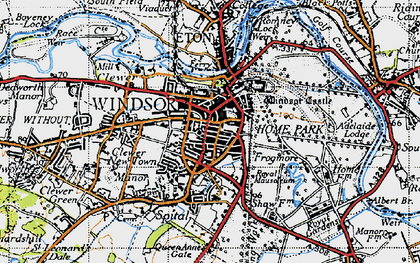 Old map of Windsor in 1945