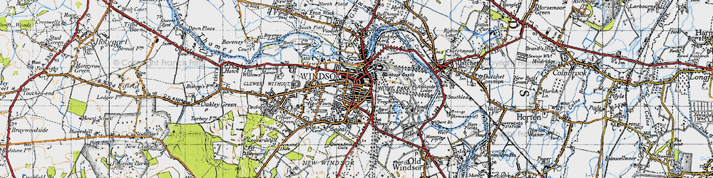 Old map of Adelaide Cottage in 1945