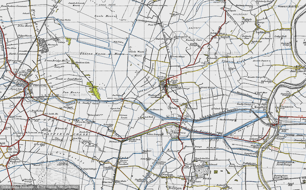 Old Map of Windsor, 1947 in 1947