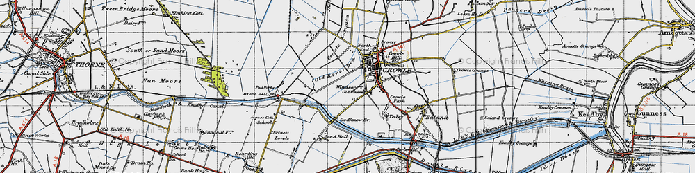 Old map of Windsor in 1947