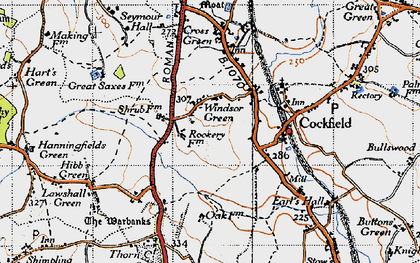 Old map of Windsor Green in 1946