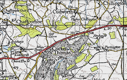 Old map of Windwhistle in 1945