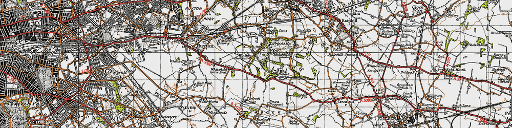 Old map of Windy Arbor in 1947