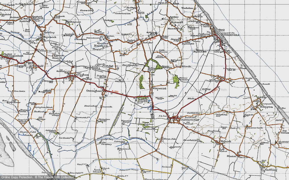 Old Map of Winestead, 1947 in 1947