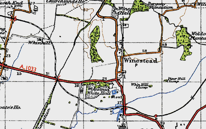 Old map of Winestead Grange in 1947