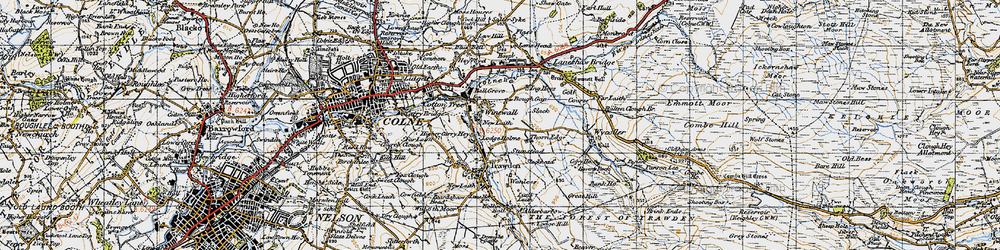 Old map of Winewall in 1947